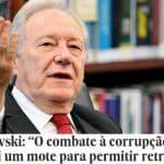 Lewandowski: corrupção não é único problema do Brasil