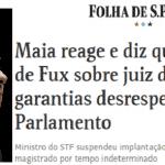 Reação de Maia a Fux indica conversa com Toffoli