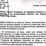 Carta de brasileiros na China dá xeque-mate na frieza de Bolsonaro