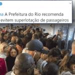 Crivella sugere a carioca evitar ônibus lotado. Só se não for trabalhar...