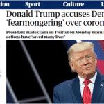 Trump corre risco de pagar caro por politizar coronavírus