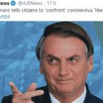 Sim, Bolsonaro, agimos como homens; você, como um moleque