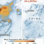 Na imagem sem poluição, o retrato da China paralisada