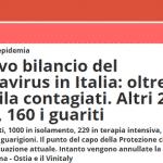 Com 79 casos, Itália já é o 2° país em mortes por coronavirus