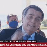 """Bolsonaro parte para a ameaça explícita: """"acabou, porra!"""""""