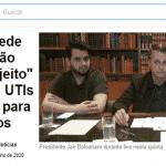 País arde e Bolsonaro manda invadir hospitais e ver se tem pacientes