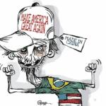 """Bolsonaro diz que Trump é vítima de """"ingerência"""" eleitoral estrangeira"""