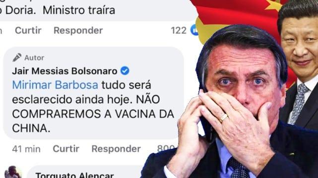 Bolsonaro liga pro Xi, mas não liga para os brasileiros