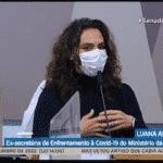 Nise deixou a cloroquina cair; Luana pisou-a