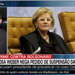 PGR não pode ser 'saltitante', diz Weber sobre caso da prevaricação de Bolsonaro