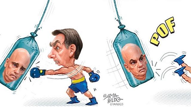 Moares 'paga pra ver' e manda prender provocadores bolsonaristas - TIJOLAÇO