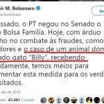 Bolsonaro mente até com 'Gato-Família' pego no Governo Lula, em 2008